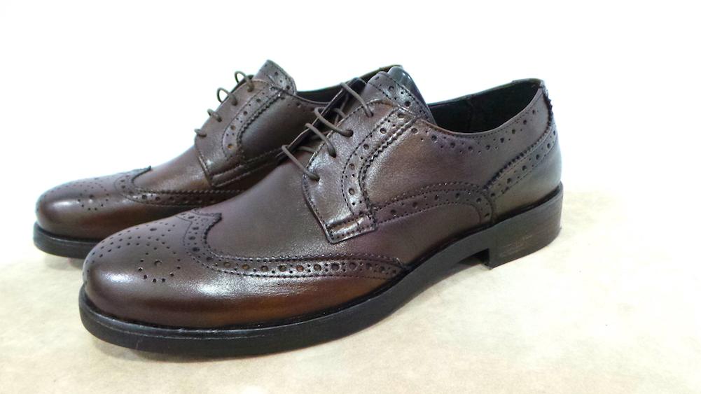 Scarpa Uomo pelle prod.artigianale cod.1901 col.Cuoio fondo cuoio Made in Italy Scarpe classiche da uomo