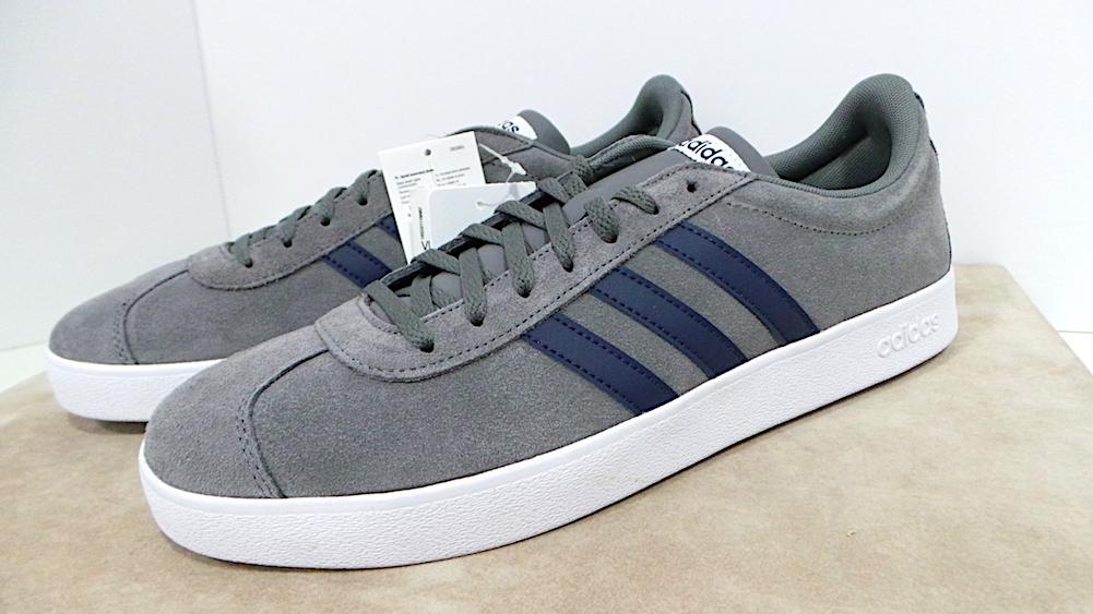 Adidas cod. DA9862 scarpe in camoscio VL Court 2.0 col. grefou Scarpe classiche da uomo