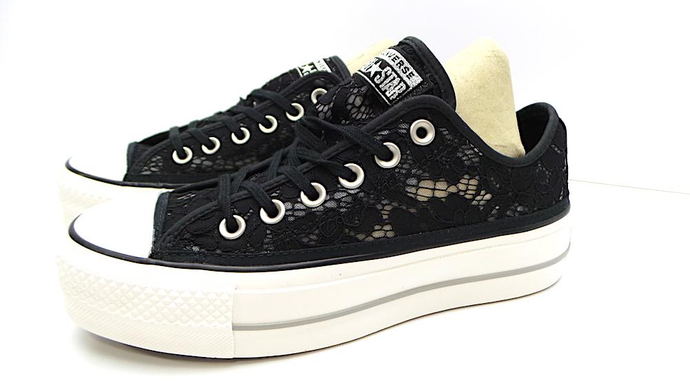 scarpe sportive Converse CTAS CLEAN LIFT OX COD.561287C COL.BLACK/WHITE